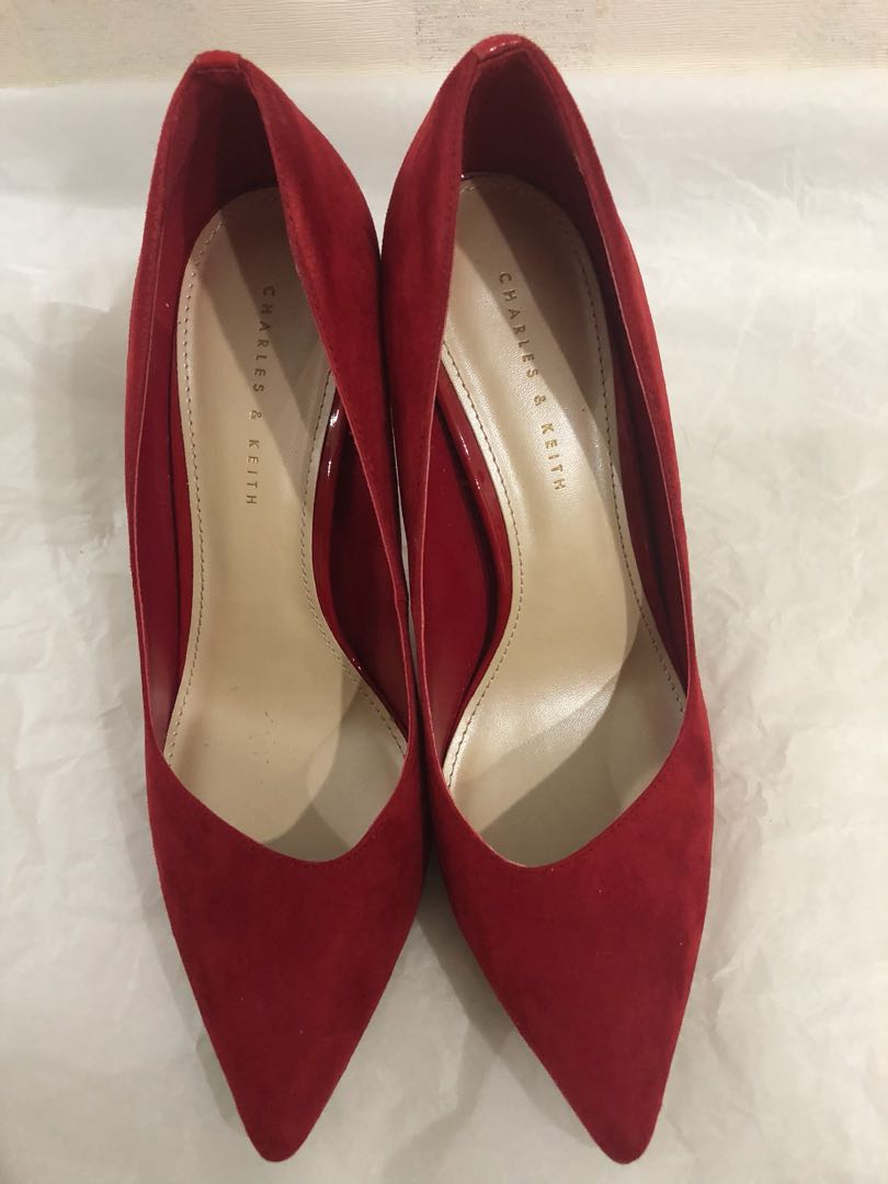 4b3879e642fb Charles   Keith Red Heels! Wore twice only!!