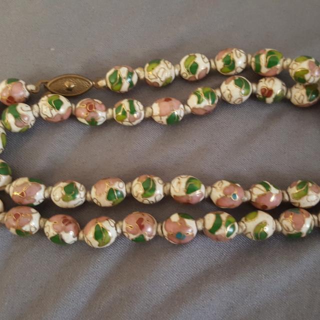 Cloissine colourful vintage necklace