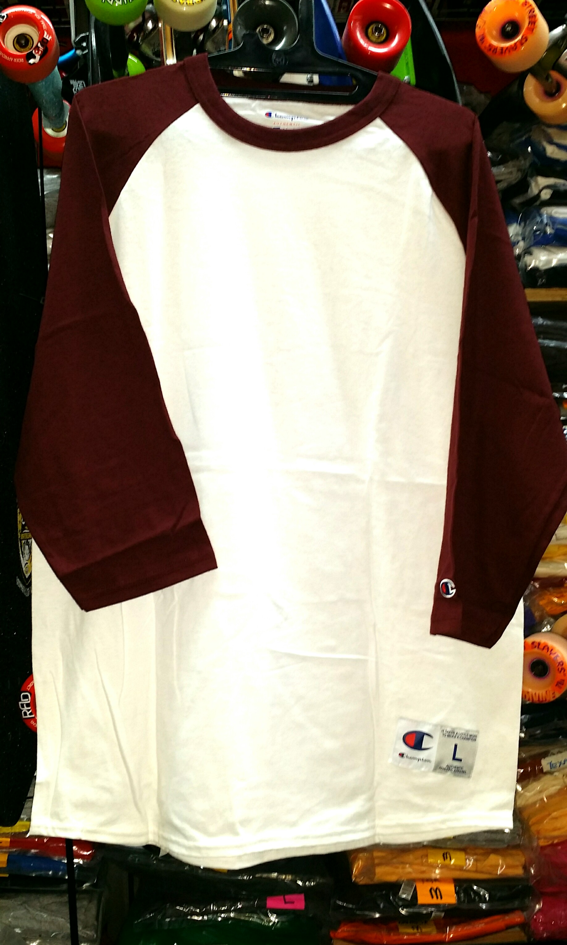 828a907f Champion Raglan Baseball Tee T Shirt Size Large maroon, Men's ...