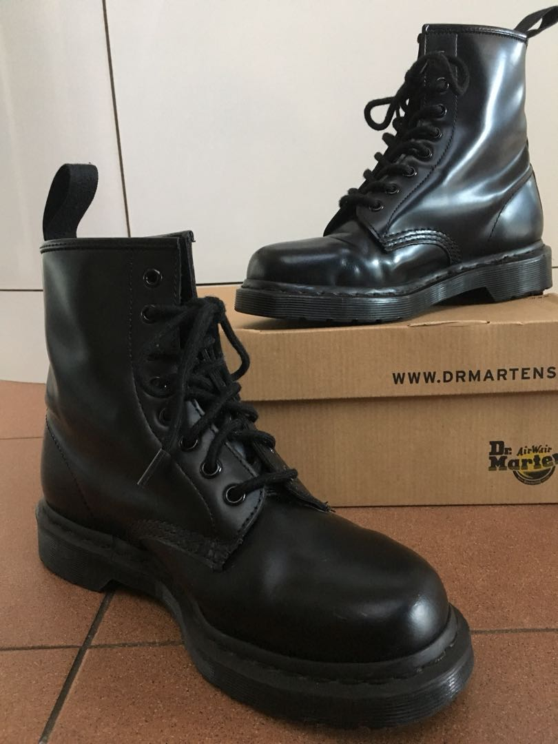 b07ae4071b28 Dr Marten 1460 Mono Smooth Black 8 Eye Boot