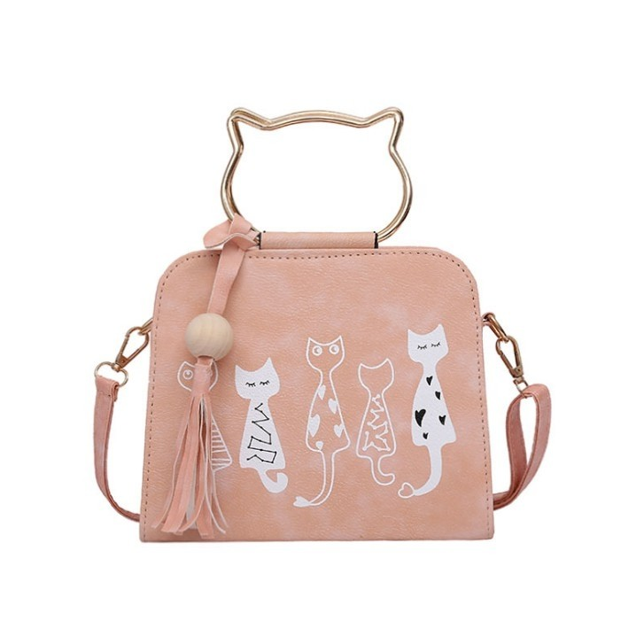 bcc6e3dcaca Fivi Cat Sling Bag Shoulder Bag Tote Bag Beg Kucing Bag, Women's ...
