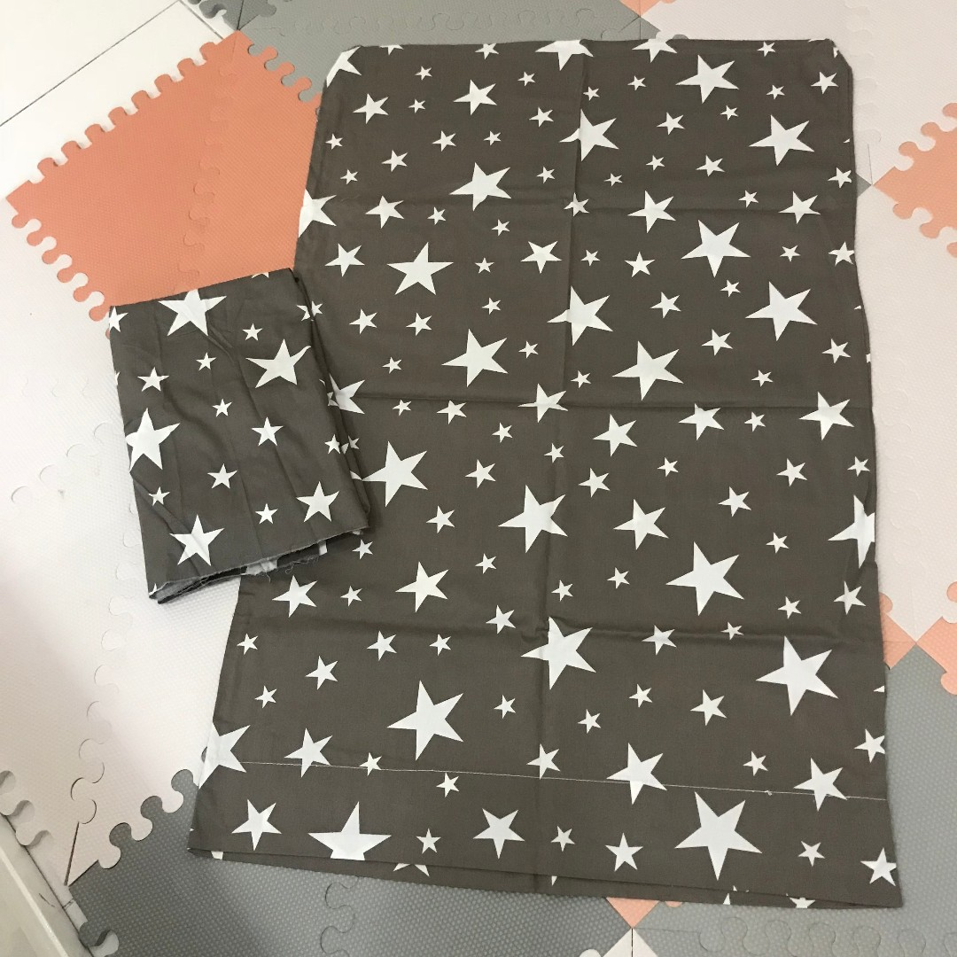 Gray Stars Baby Bed Sheet Crib Sheet Comforter Cover Aprica Coconel
