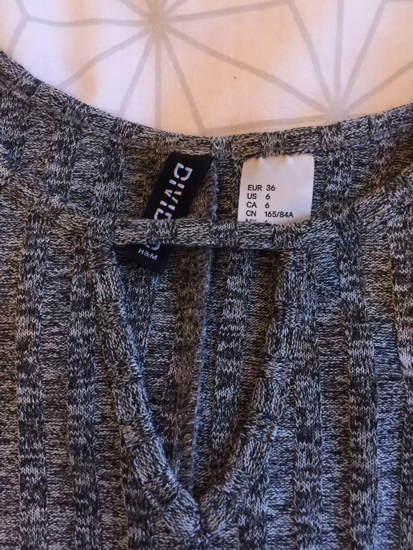 Grey HnM skater dress