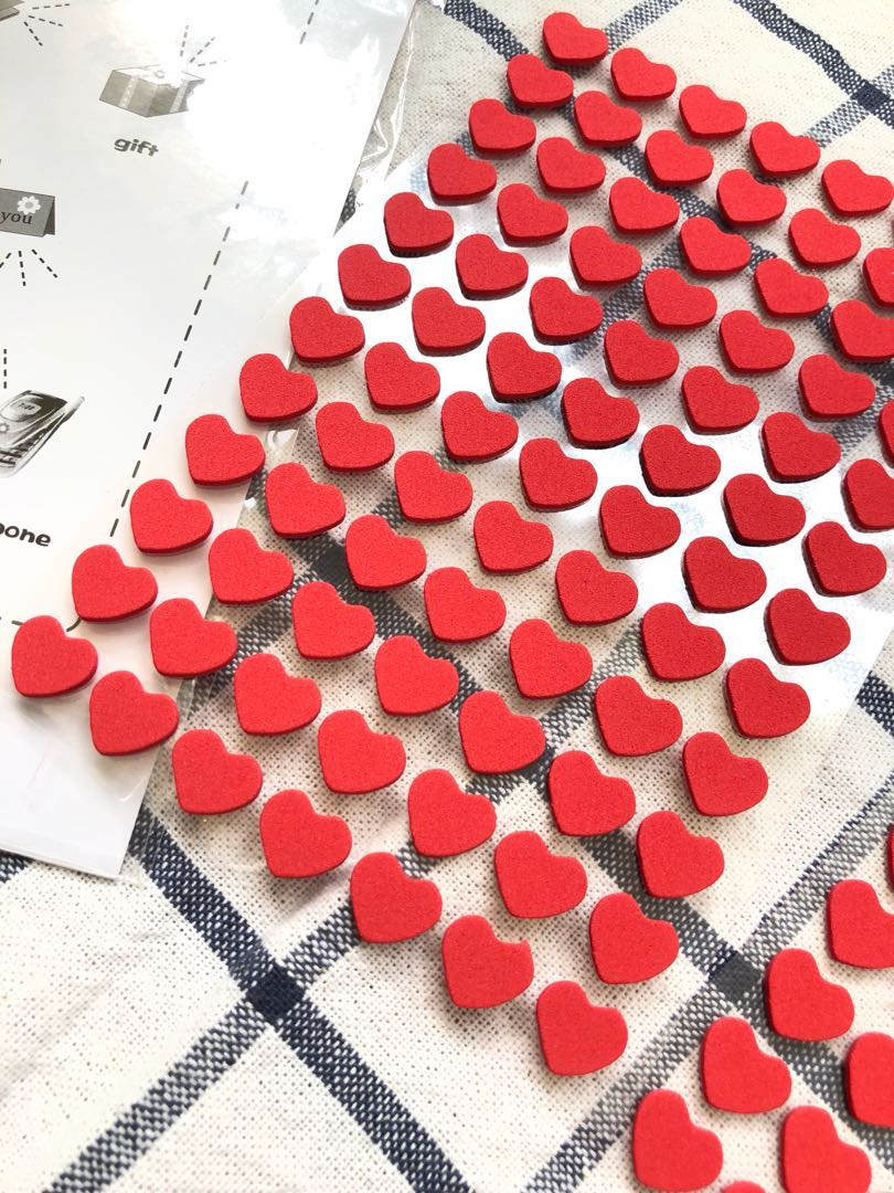 Heart shaped stickers (felt), Design & Craft, Others on