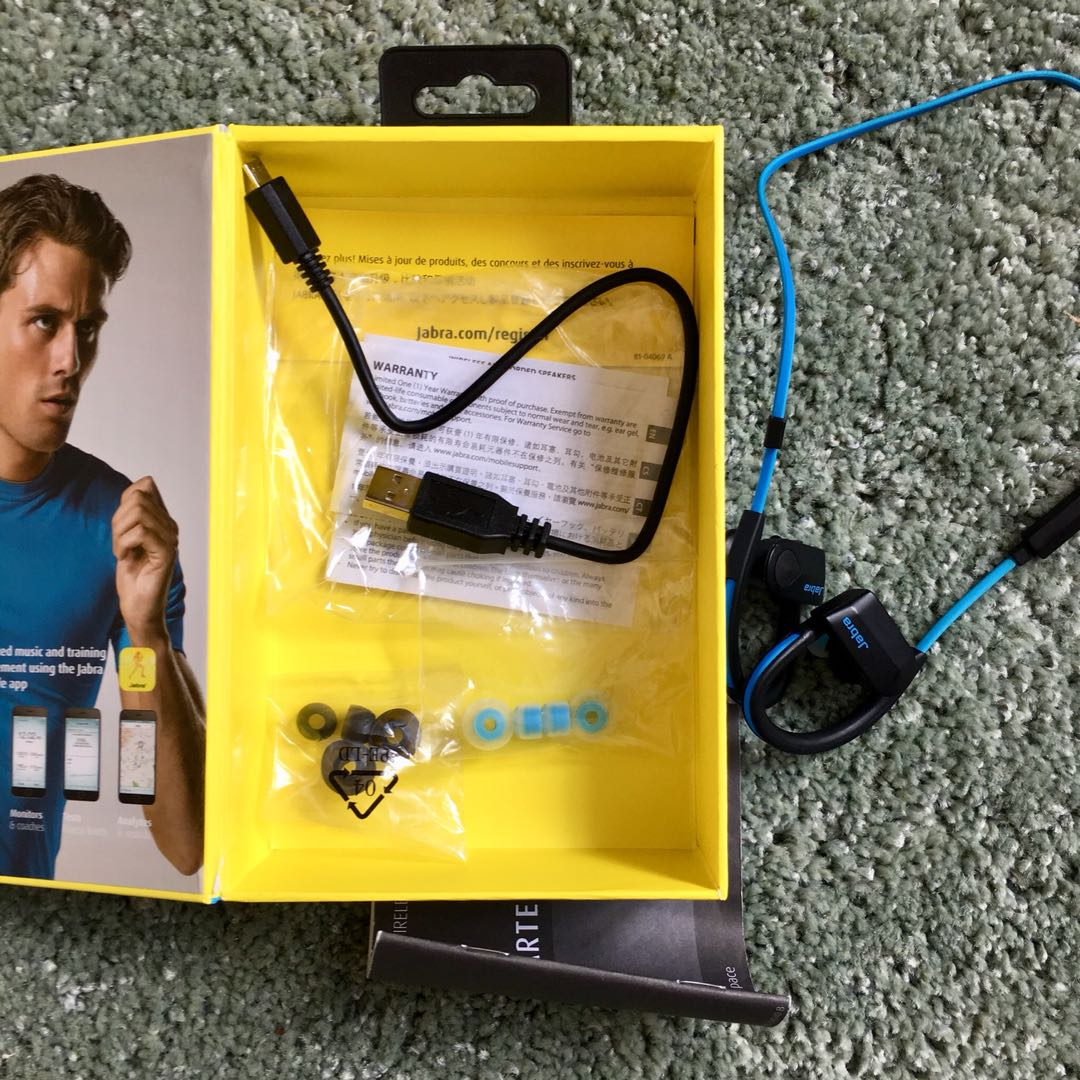 Jabra Sports Pace Wireless Earphones Electronics Others On Carousell Sport Earbuds Yellow