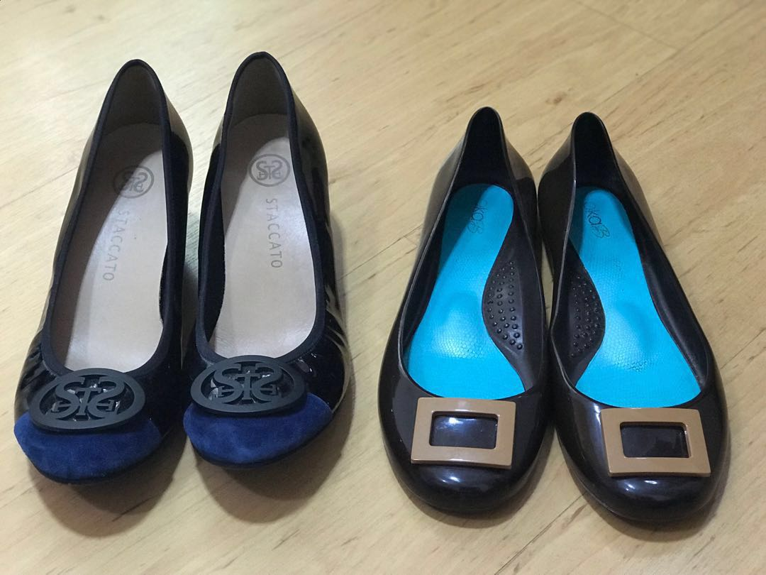 edf575ec9 Jelly shoes from Oka B and heels from Staccatos