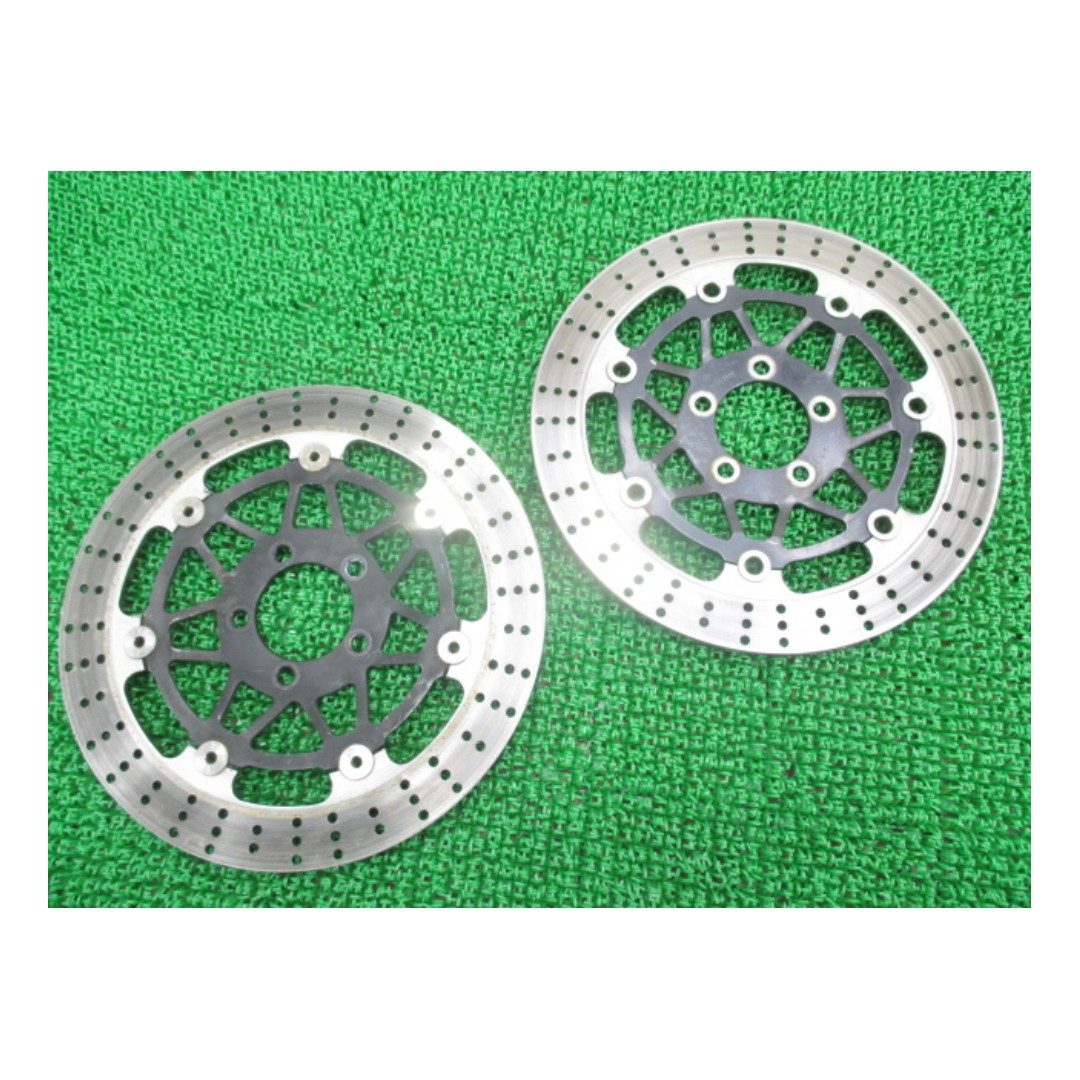Kawasaki genuine motorcycle parts front brake disc right and left  ZR400C (SHIP FROM JAPAN)