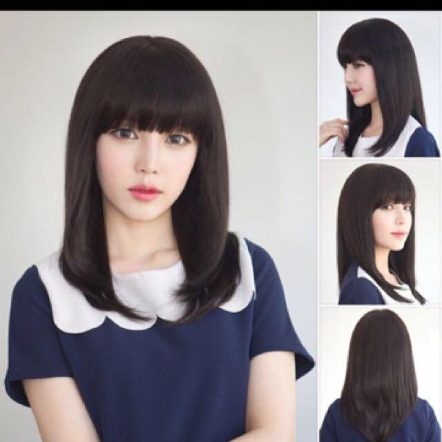 Korean Ulzzang Long Bob lob hair, Women\u0027s Fashion, Clothes