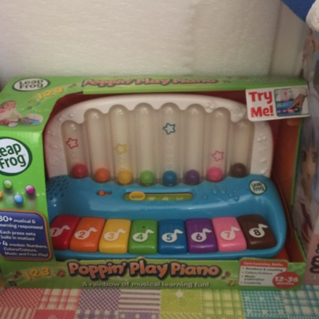 LeapFrog Poppin' Play Piano Baby Toddler and Octopus Music Sound