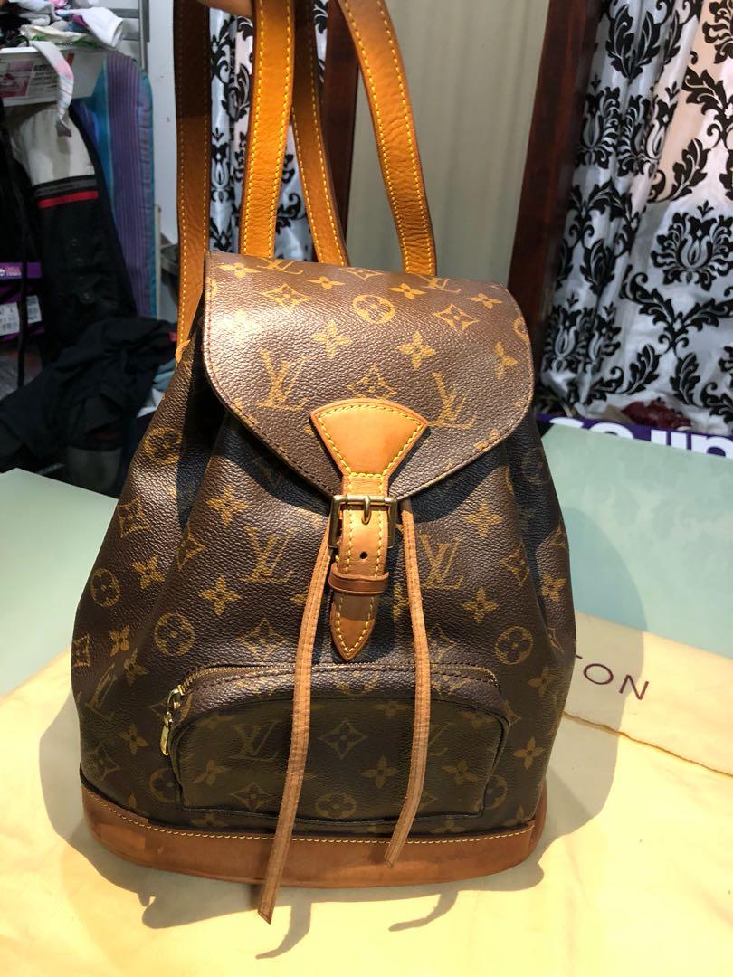 e9ecc4aae07ad Louis Vuitton Classic Monogram Canvas Montsouris MM Backpack