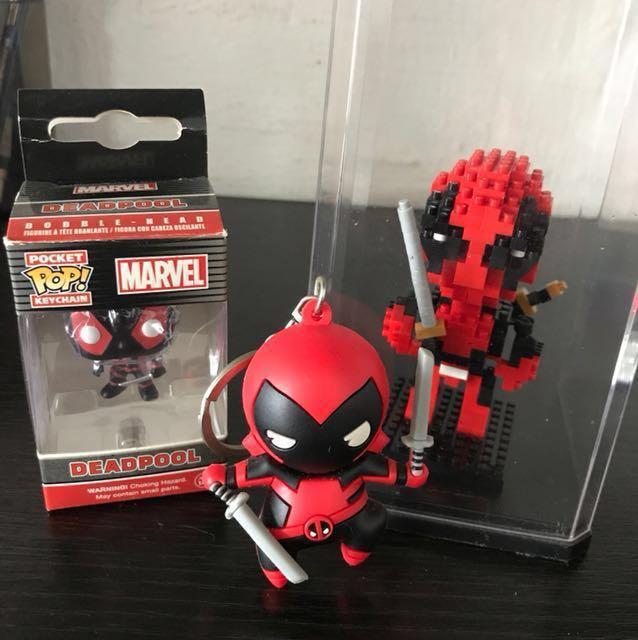 Marvel LEGO Deadpool Mini PoP Toy Keychain, Toys & Games, Bricks ...