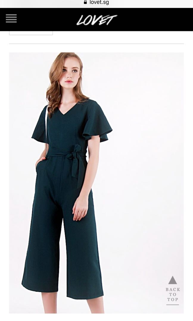 c4567be23db Melanie Flutter Sleeve Jumpsuit