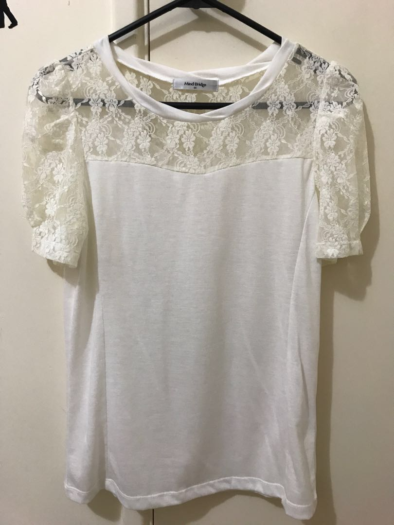 MIND BRIDGE lace top
