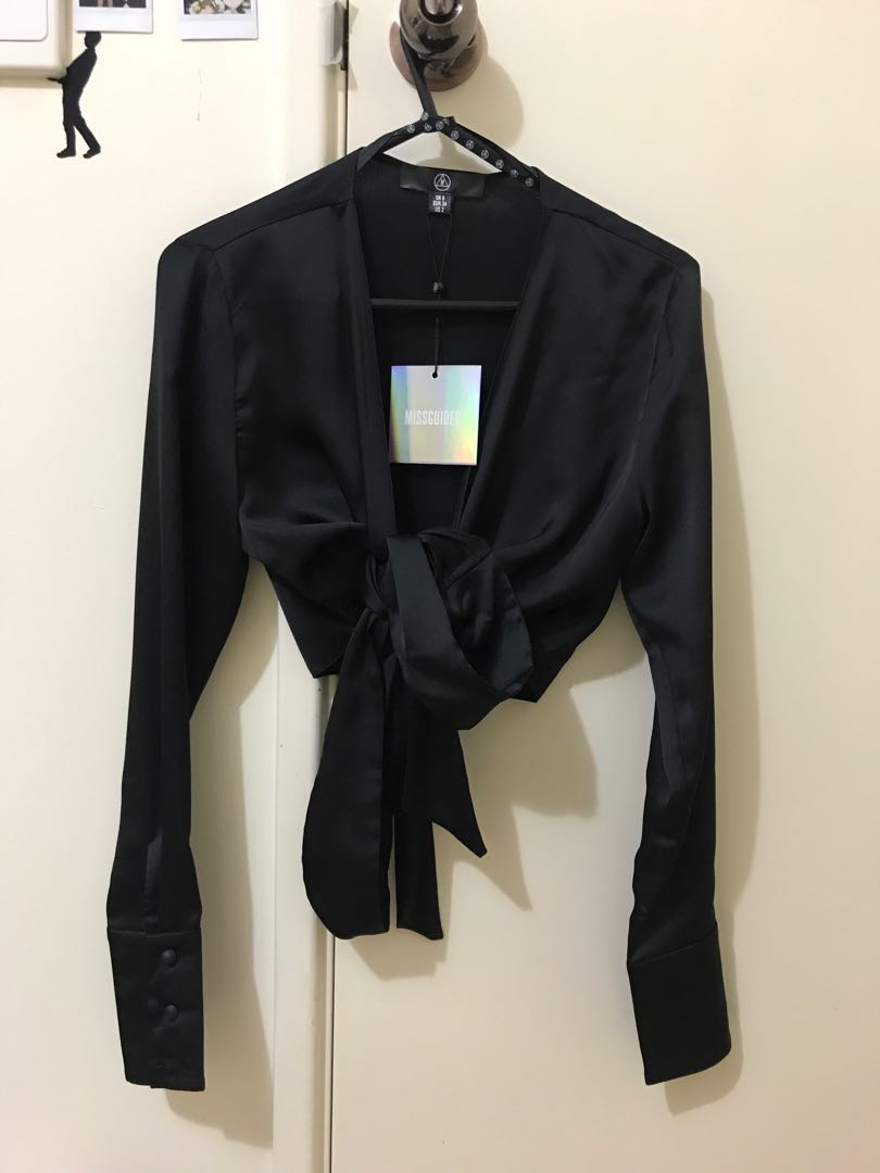 MISSGUIDED Wrap Side Drape Blouse BNWT
