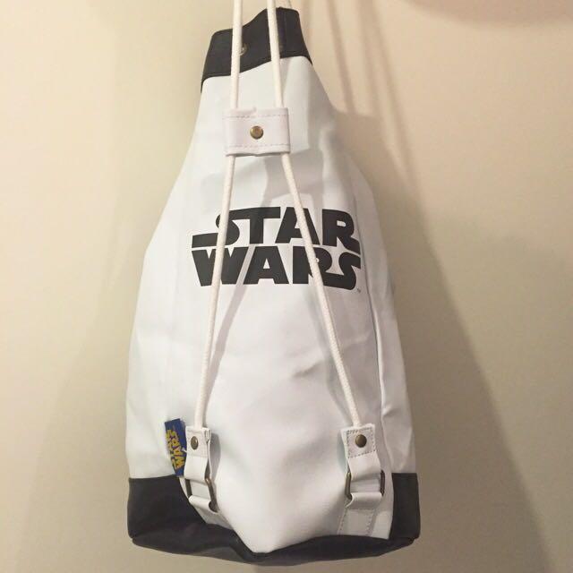 New Star Wars Drawstring Bucket Bag Shoulder Bag Backpack Men's Handbag