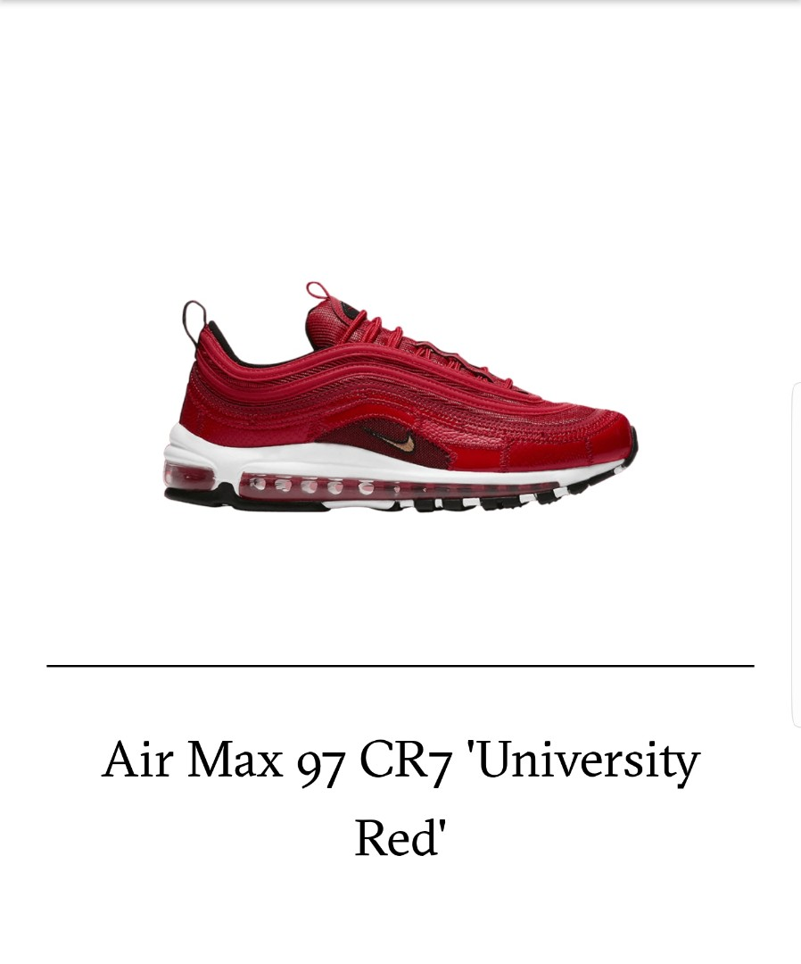 3ac4d86c60b Nike Air Max 97 CRISTIANO RONALDO PORTUGAL UNIVERSITY RED