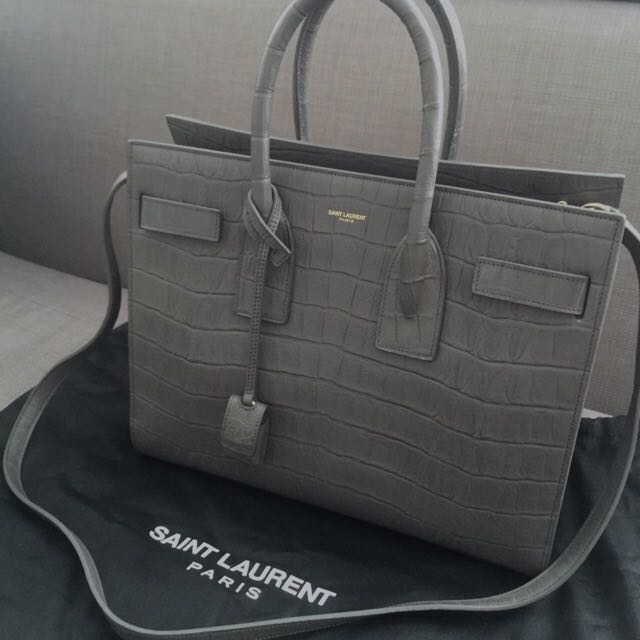 191b96bb913 Rare YSL Saint Laurent Sac De Jour Croc Embossed Bag, Luxury, Bags ...