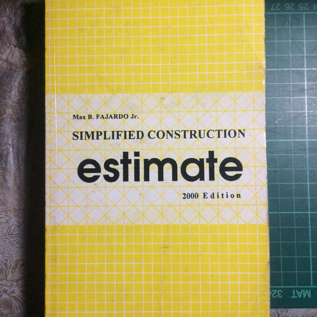 simplified construction estimate book, Books, Books on Carousell