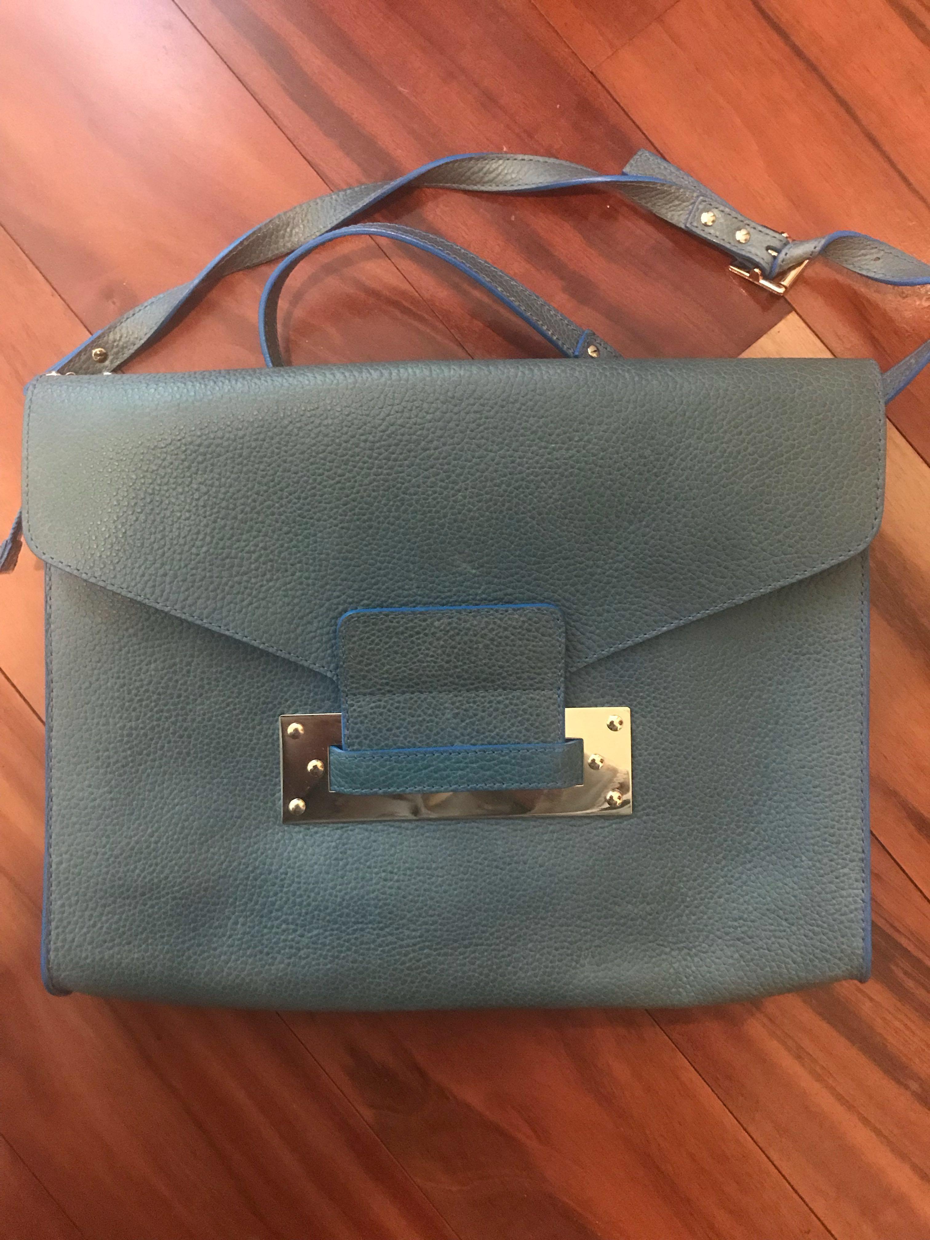 Sophie Hulme blue pebbled bag