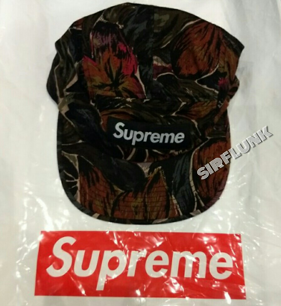 Reserved BN Supreme Painted Floral Camp Cap in Olive 7caca8a3d2e