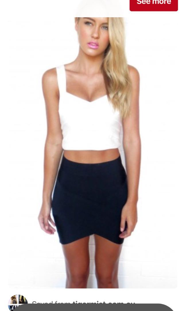 Tigermist Black bandeau skirt