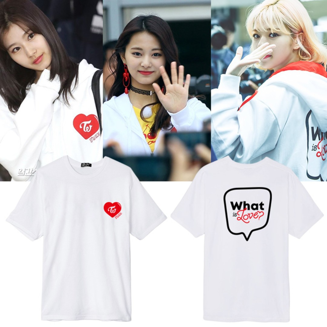 08c1aa25b TWICE What is Love T-Shirt (Ver 2), Entertainment, K-Wave on Carousell