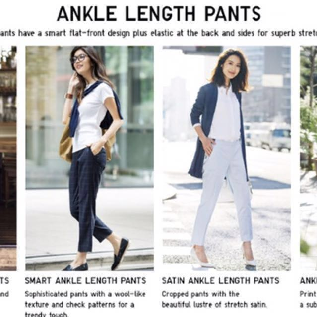 d884d2127a3957 Uniqlo Smart Ankle pants, Women's Fashion, Clothes, Bottoms on Carousell