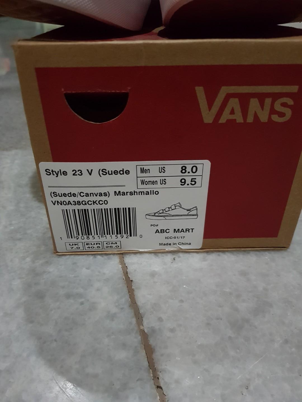c6d2f494f1d846 Vans style 23 sz 8
