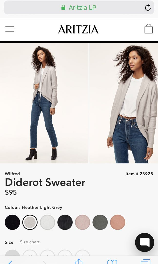 Wilfred XXS cream sold out cardigan sweater Diderot