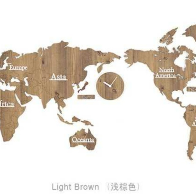 Wooden world map with clocks furniture home decor on carousell photo photo photo photo photo gumiabroncs Gallery