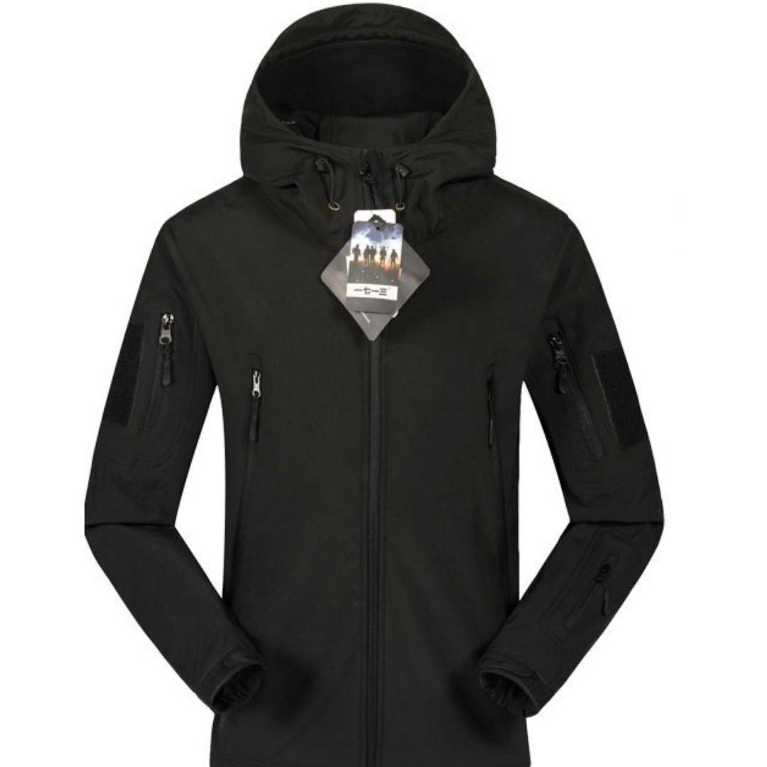 Wts New Tad Shark Skin Softshell Tactical Jacket Black Xxl