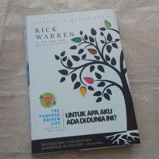 Buku untuk apa aku ada di dunia ini