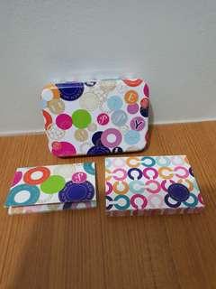Coach Mini Tin Box Stationery Set