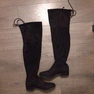 EUC Steve Madden OTK black boots Sz 9
