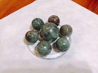綠幽球七星陣 — 招正財、助事業、美觀擺飾