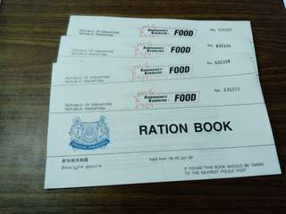 1989 Ration Booklets -4 complete pieces
