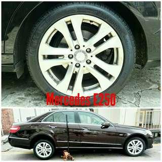 Tyre 225/50 R17 Membat on Mercedes E250 🐕 Super Offer 🙋♂️