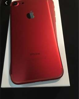 iPhone 7 128gb  Red 紅 99new no scratches