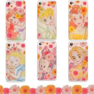 預購🌸 夢幻風🌿迪士尼公主手機殼 (訂造款) 美人魚/長髮公主/愛麗絲/小仙子/米妮/貝兒