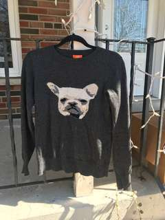 Sweater with French bulldog size s