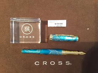 Cross Sauvage 2016 Teal-Gold Monkey Fountain Pen