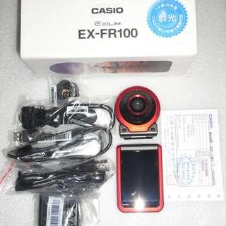 卡西歐CASIO EX-FR100 防水數位相機/鏡頭、螢幕分體式設計/3吋觸控螢幕/原廠保固中(公司貨)