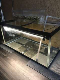 3ft fish tank (with overhead filter & LED light)