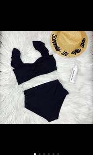 Black frill bikini
