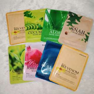 Korean Face Mask Sheets (100% Authentic)
