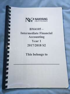 NYP Intermediate Financial Accounting School of Business Management IFA notes