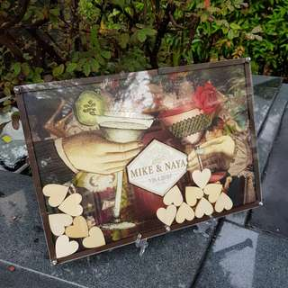 Hendrick's Design Drop Frame Guestbook for Wedding/Baby Shower/Birthday Parties Events