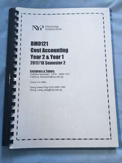 NYP Cost Accounting School Of Business Management CostAg Notes