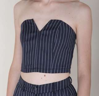 BN Klarra Structured Bustier in Pinstripe L size (Cheaper than site)