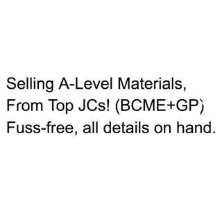 A-Levels H2 BCME H1 GP Materials